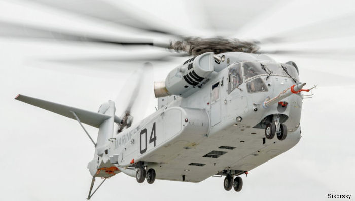 Helicopter Sikorsky CH-53K King Stallion Serial unknown Register 168781 used by US Navy USN (United States Naval Aviation) ,Sikorsky Helicopters. Built 2016. Aircraft history and location
