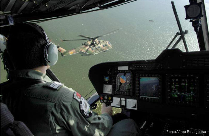 Photos of EH101 in Portuguese Air Force helicopter service.