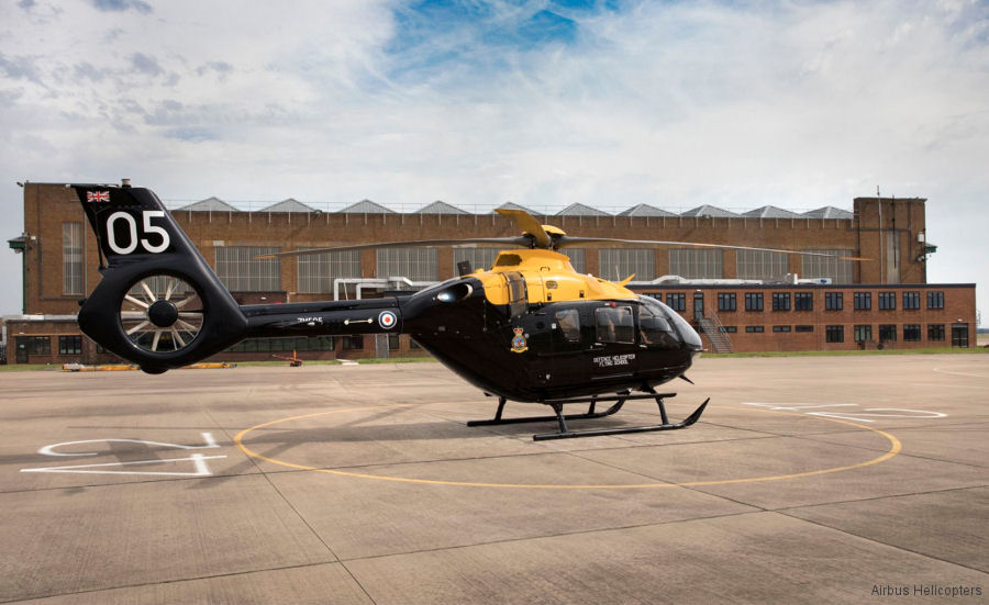 Helicopter Airbus Helicopters H135 / EC135T3 Serial 2002 Register ZM505 G-CJIW D-HECV used by Ministry of Defence (MoD) Airbus Helicopters UK Airbus Helicopters Deutschland GmbH (Airbus Helicopters Germany). Built 2016. Aircraft history and location