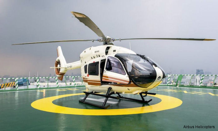 Helicopter Airbus Helicopters H145 / EC145T2 Serial 20058 Register 9V-HBV used by Airbus Helicopters Southeast Asia. Aircraft history and location