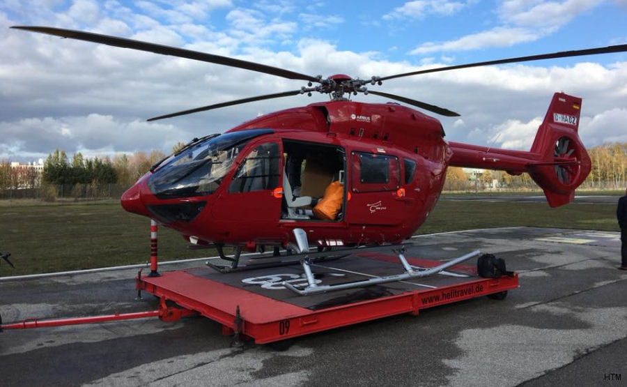 Helicopter Airbus Helicopters H145 / EC145T2 Serial 20172 Register D-HTMM used by Helicopter Travel Munich HTM. Built 2017. Aircraft history and location