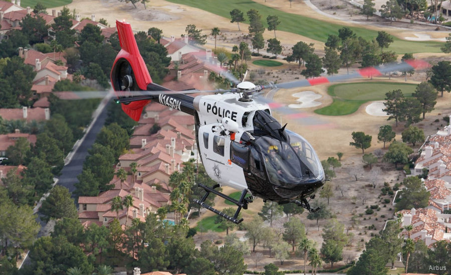 Helicopter Airbus Helicopters H145 / EC145T2 Serial 20117 Register N145DV used by State of Nevada Airbus Helicopters Inc (Airbus Helicopters USA). Built 2016. Aircraft history