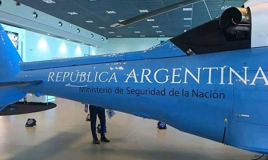 Helicopter Airbus Helicopters H155 / EC155B1 Serial 7031 Register LQ-HWN used by Policia Federal Argentina PFA (Argentine Federal Police). Built 2018. Aircraft history and location