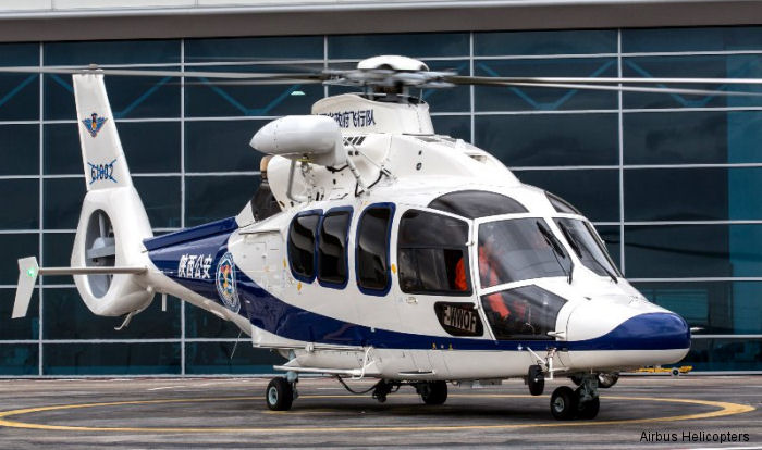 Helicopter Airbus Helicopters H155 / EC155B1 Serial 7018 Register 61002 used by Ministry of Public Security MPS (公安部). Aircraft history and location
