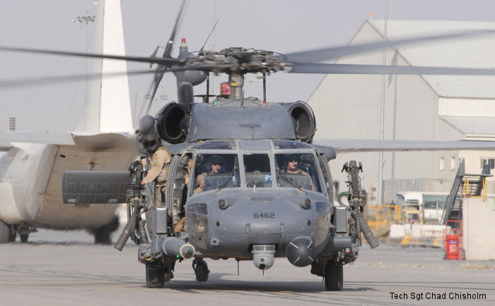 Helicopter Sikorsky HH-60G Pave Hawk Serial 70-1769 Register 92-26462 used by US Air Force. Aircraft history and location