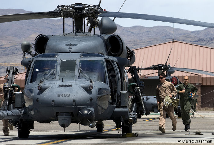 Helicopter Sikorsky HH-60G Pave Hawk Serial unknown Register 92-26463 used by US Air Force. Aircraft history and location