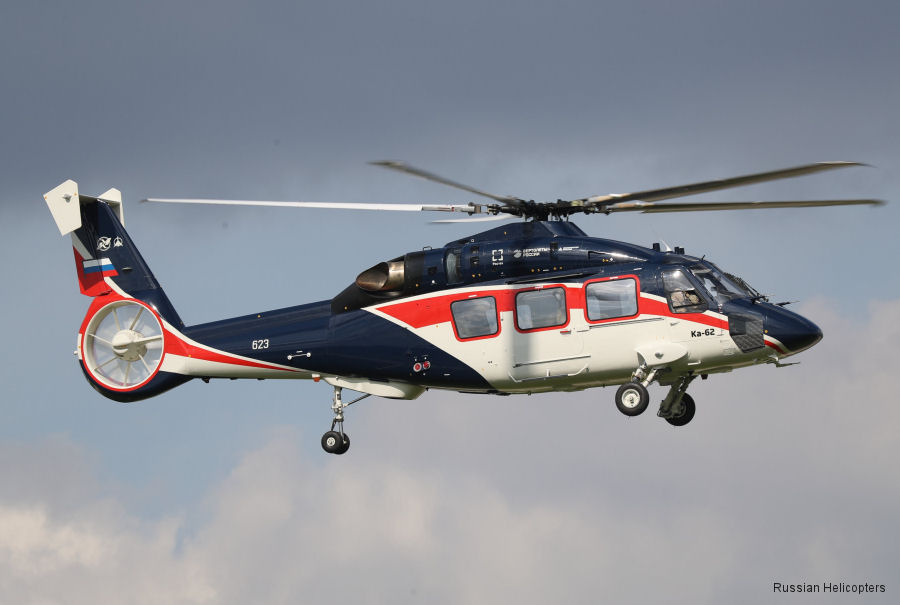 Helicopter Russian Helicopters Ka-62 Serial unknown Register  used by Russian Helicopters. Aircraft history and location