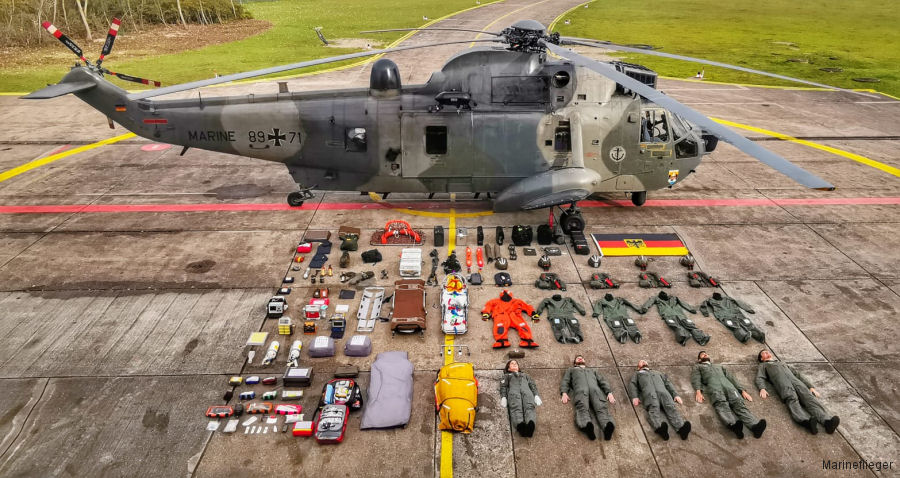 Photos of Sea King in German Navy  helicopter service.