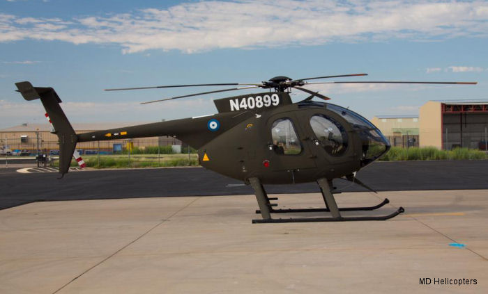 Helicopter MD Helicopters MD500E Serial 0610E Register UNO-089P 50 used by United Nations UN ,Fuerza Aerea Salvadoreña (Air Force of El Salvador). Aircraft history and location