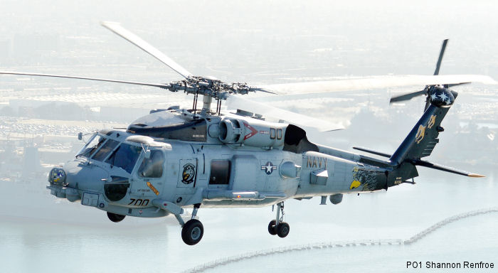 Helicopter Sikorsky MH-60R Seahawk Serial unknown Register 167010 used by US Navy USN (United States Naval Aviation). Aircraft history and location