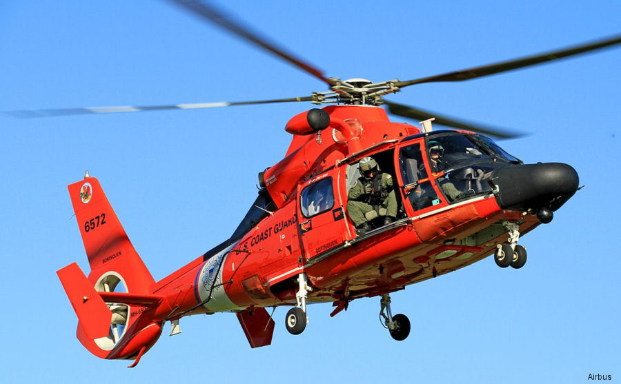 Helicopter Aerospatiale HH-65 Dolphin Serial 6267 Register 6572 used by US Coast Guard. Aircraft history and location