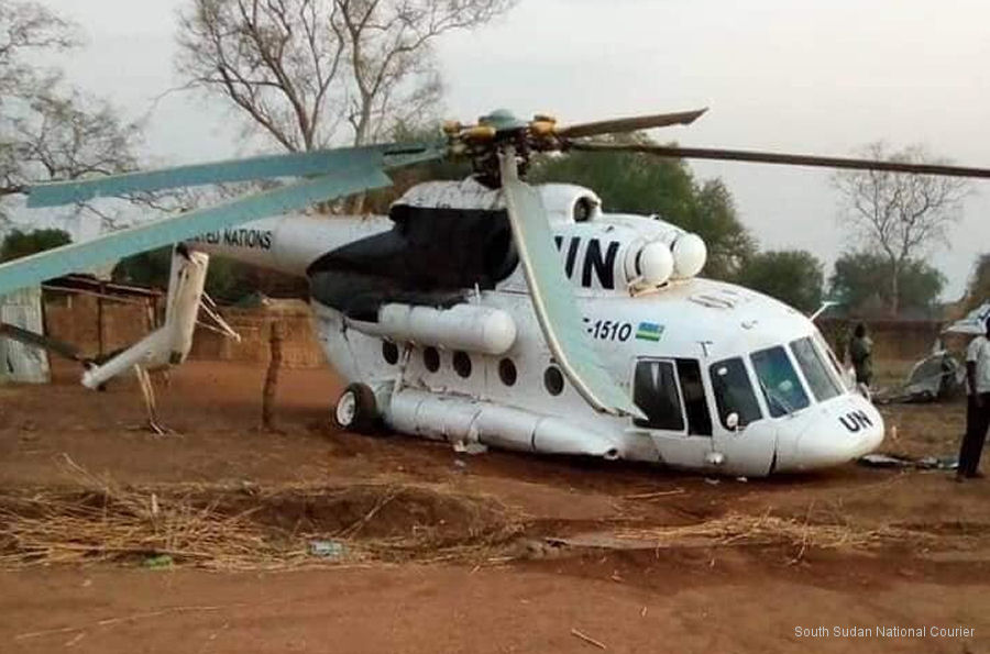 Helicopter Mil Mi-17-1V Serial 646M07 Register UNO-562P RAF-1510 used by United Nations UN ,Ingabo z u Rwanda (Rwanda Defence Force). Aircraft history and location