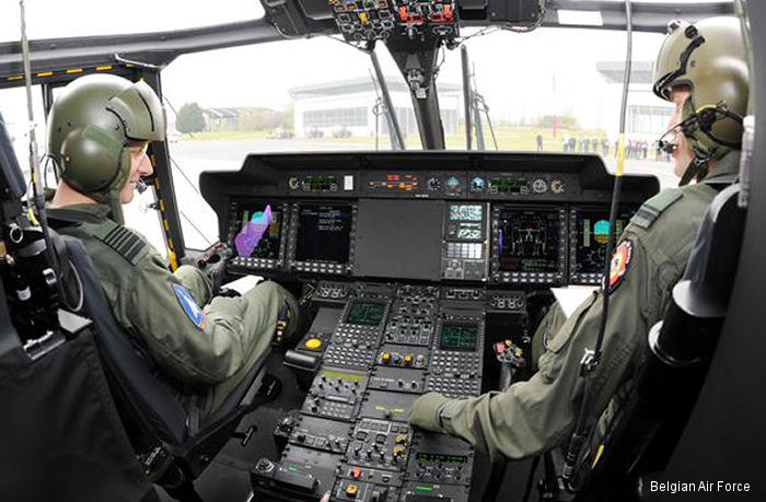 Force Aérienne Belge NH90 cockpit