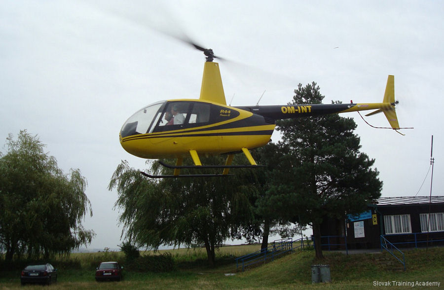 Helicopter Robinson R44 Raven II Serial 11013 Register OM-INT OK-MOW D-HALC used by Slovak Training Academy STA ,Air Lloyd Deutsche Helicopter Flugservice GmbH (air lloyd german helicopter flight service). Aircraft history and location