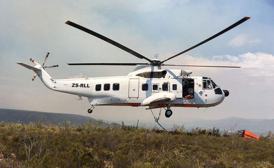 Helicopter Sikorsky S-61N Mk.II Serial 61-778 Register ZS-RLL G-BFFK used by Titan Helicopter Group THG ,CHC South Africa ,Brintel Helicopters ,British International Helicopters BIH ,British Airways Helicopters. Built 1978. Aircraft history and location