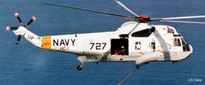 Helicopter Sikorsky HSS-2 Sea King Serial 61-051 Register 148979 used by US Navy (United States Naval Aviation). Built 1961. Aircraft history