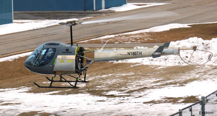 Helicopter Enstrom TH-180 Serial 10001 Register N180TH used by Enstrom. Built 2015. Aircraft history