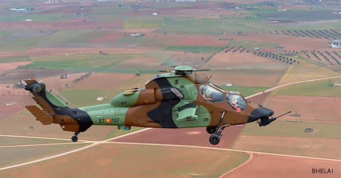 Helicopter Eurocopter Tiger HAD Serial 5002 Register HA.28-07 used by Fuerzas Aeromóviles del Ejército de Tierra (Spanish Army Aviation). Aircraft history
