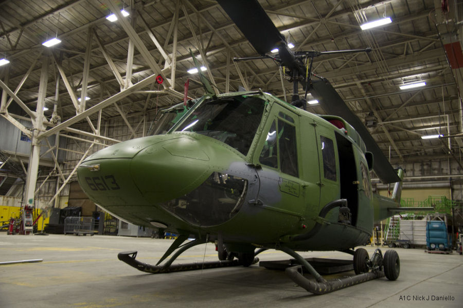 Helicopter Bell UH-1N Serial 31019 Register 69-6613 used by US Air Force. Aircraft history and location
