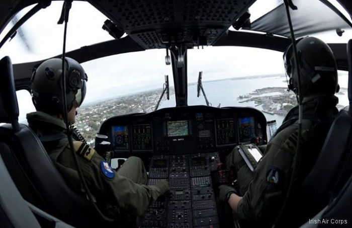 Photos of AW139 in Irish Air Corps helicopter service.