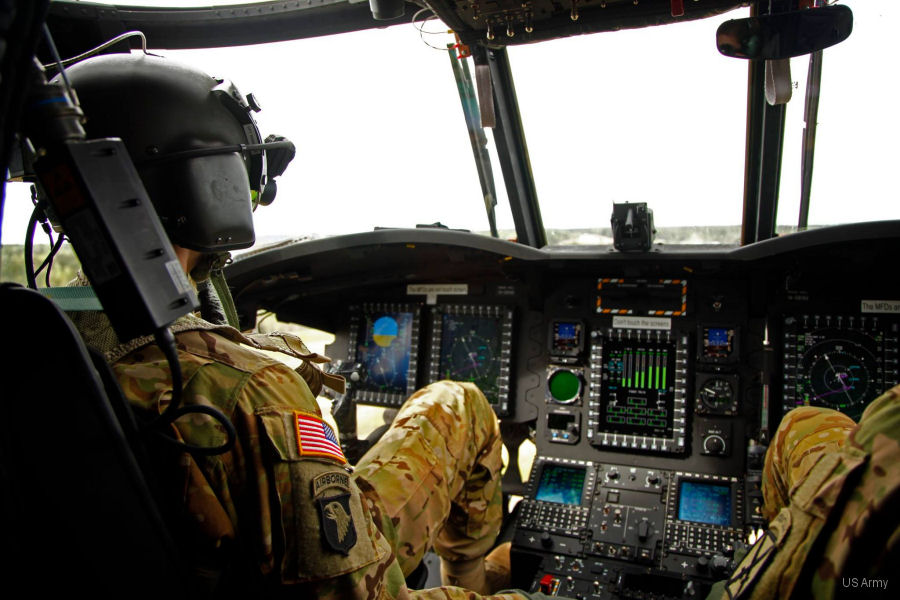 US Army Aviation CH-47F Chinook cockpit