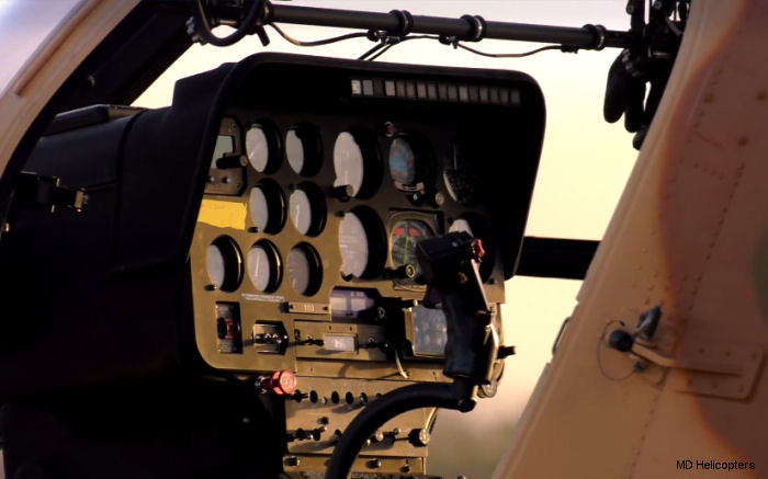 Afghan Air Force MD530F cockpit