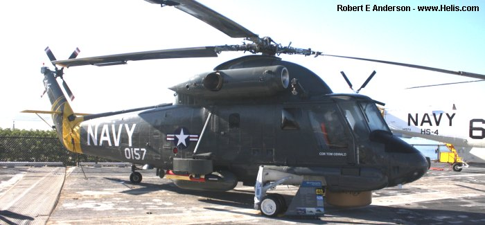 Helicopter Kaman UH-2B Serial 107 Register 150157 used by US Navy (United States Naval Aviation). Aircraft history