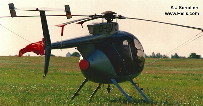 Helicopter McDonnell Douglas MD369E / MD500E Serial 0362E Register OE-XKK D-HMIC. Aircraft history and location