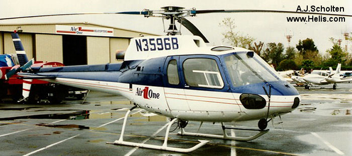 Helicopter Aerospatiale AS350D Astar Serial 1099 Register C-GPWQ N3596B. Built 1979. Aircraft history and location