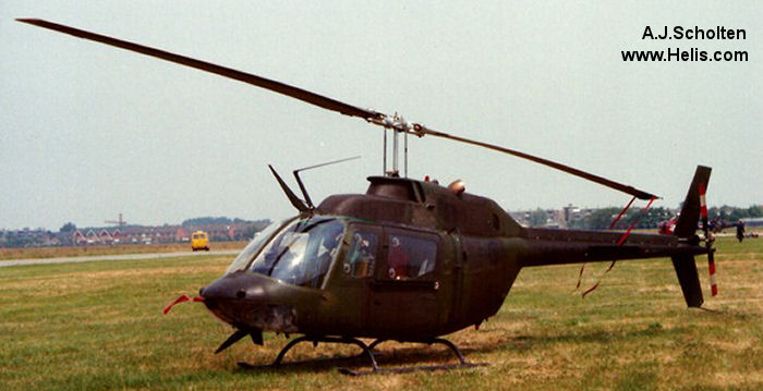 Helicopter Bell CH-136 Kiowa Serial 44030 Register 136230 used by Canadian Armed Forces. Aircraft history and location