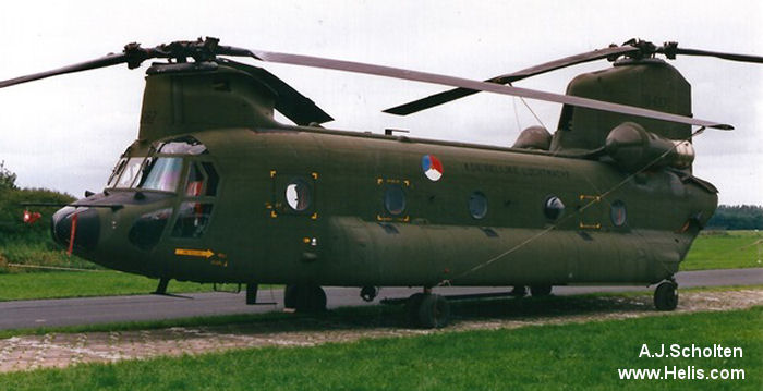 Helicopter Boeing CH-47D Chinook Serial M.3667 Register D-667 used by Koninklijke Luchtmacht (Royal Netherlands Air Force). Built 1978. Aircraft history and location