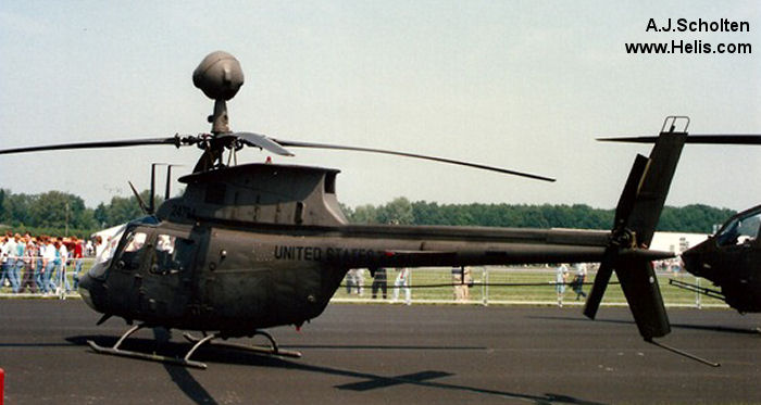 Helicopter Bell OH-58D Kiowa Warrior Serial 43056 Register 85-24724 used by US Army Aviation Army. Aircraft history and location