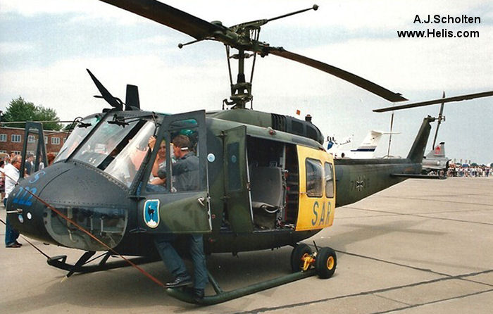 Helicopter Dornier UH-1D Serial 8196 Register 71+36 used by Philippine Air Force ,Luftwaffe (German Air Force). Aircraft history and location