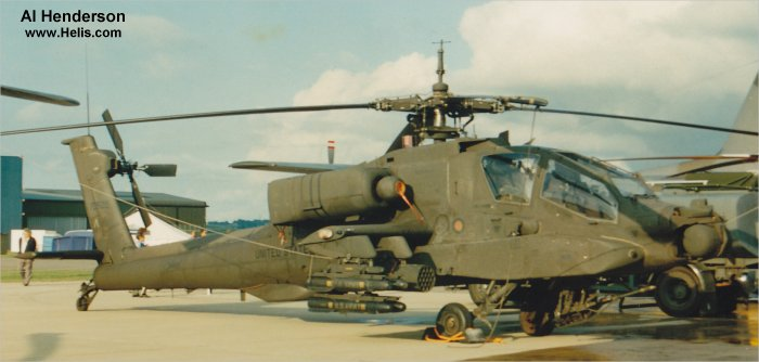 Helicopter McDonnell Douglas AH-64A Apache Serial PV524 Register 87-0505 used by US Army Aviation. Aircraft history and location