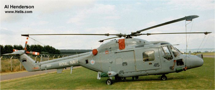 Helicopter Westland Lynx HAS3 Serial 251 Register ZD251 used by Fleet Air Arm RN (Royal Navy). Built 1982. Aircraft history and location