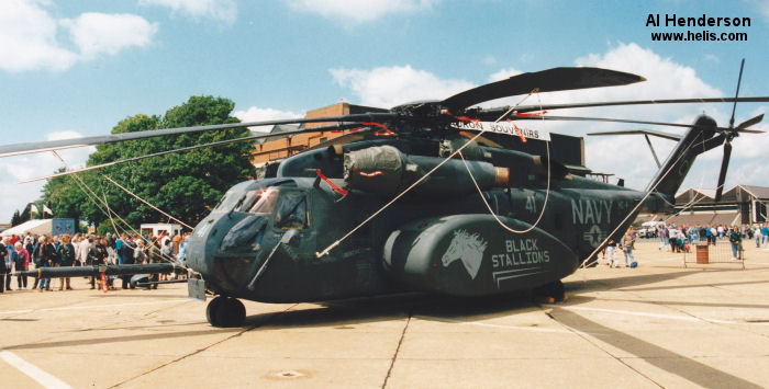 Helicopter Sikorsky MH-53E Sea Dragon Serial 65-555 Register 163057 used by US Navy USN (United States Naval Aviation). Aircraft history and location