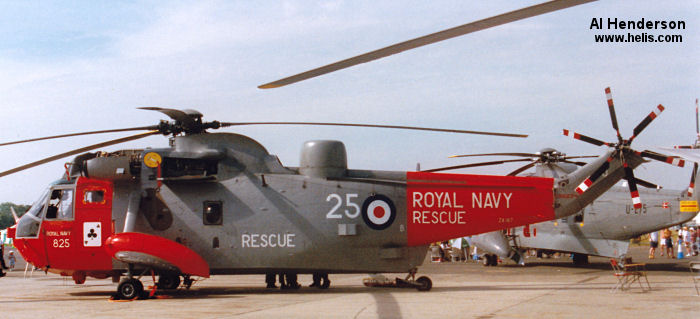 Helicopter Westland Sea King HAS.5 Serial wa 900 Register ZA167 used by Fleet Air Arm (Royal Navy). Built 1982. Aircraft history
