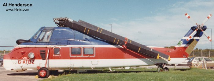 Helicopter Westland Wessex Mk.60 Serial wa461 Register G-ATBZ used by Bristow. Built 1965. Aircraft history and location