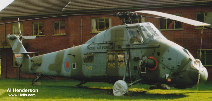 Helicopter Westland Wessex HU.5 Serial wa291 Register XT469 used by Royal Air Force Fleet Air Arm (Royal Navy) Royal Marines. Built 1965. Aircraft history and location