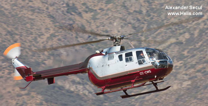 Helicopter MBB Bo105LS Serial 2003 Register CC-CWS XA-STZ XA-RTJ N911LS D-HLSC. Aircraft history and location
