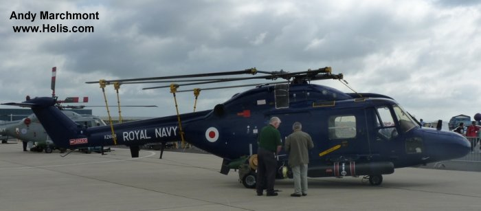 Helicopter Westland Lynx  HAS2 Serial 157 Register XZ699 used by Fleet Air Arm RN (Royal Navy). Built 1980. Aircraft history and location
