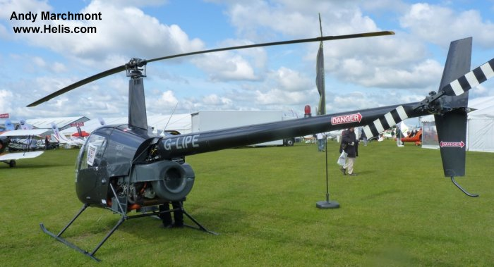Helicopter Robinson R22 Beta Serial 1882 Register G-LIPE. Built 1991. Aircraft history and location