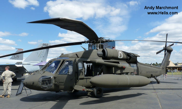 Helicopter Sikorsky UH-60A Black Hawk Serial 70-1187 Register 87-24647 used by US Army Aviation. Aircraft history and location