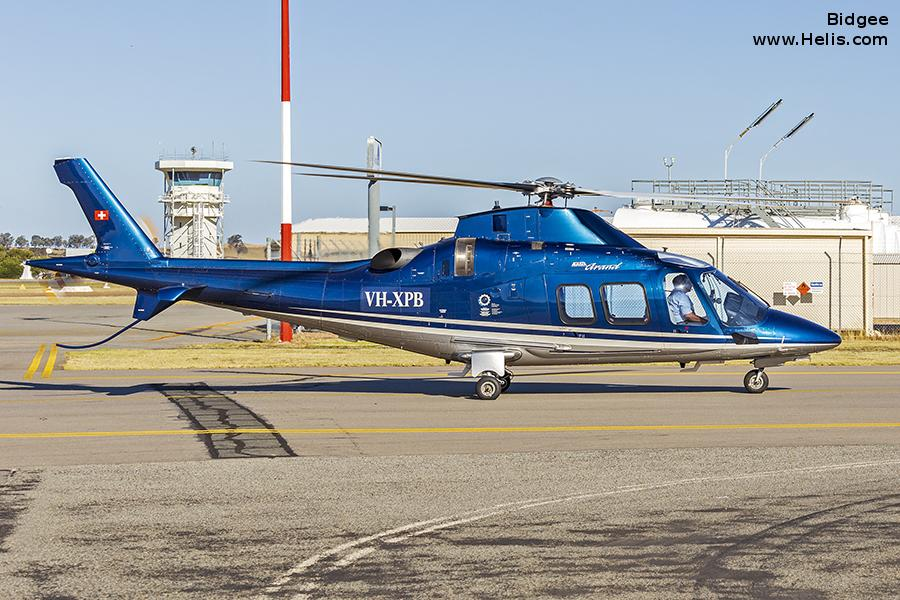 Helicopter AgustaWestland AW109S Grand Serial 22025 Register VH-XPB HB-ZHP used by Swiss Jet AG ,Swift Copters SA (swift copters sa). Built 2006. Aircraft history and location