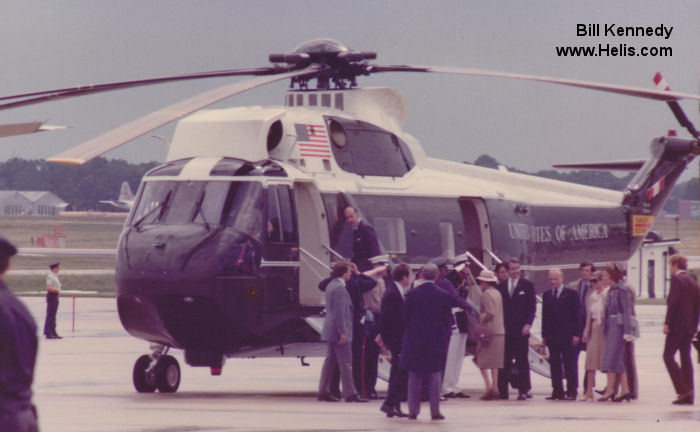 Helicopter Sikorsky VH-3D Sea King Serial 61-734 Register 159360 used by US Marine Corps. Aircraft history and location