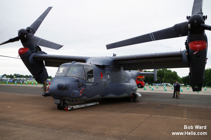Helicopter Bell CV-22B Osprey Serial D1044 Register 12-0063 used by US Air Force. Aircraft history