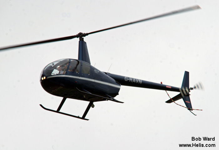 Helicopter Robinson R44 Raven Serial 1022 Register G-RAVN used by Heli Air Ltd. Built 2001. Aircraft history and location