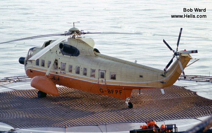 Helicopter Sikorsky S-61N Serial 61-490 Register C-FHHD G-BFPF N61NW N906CH ZS-HDK used by hayes forest services British Airways Helicopters Caledonian Helicopters Northwest Helicopters CHI Aviation (Construction Helicopters Inc) Court Helicopters. Built 1971. Aircraft history