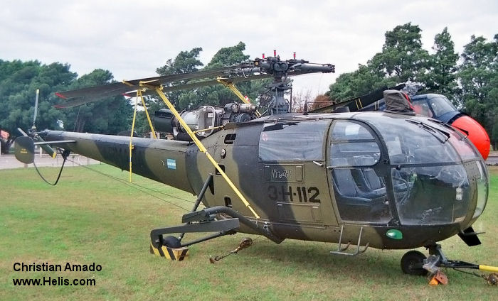 Helicopter Aerospatiale SA316B Alouette III Serial 2346 Register 0737 used by Comando de Aviacion Naval Argentina COAN (Argentine Navy). Aircraft history and location