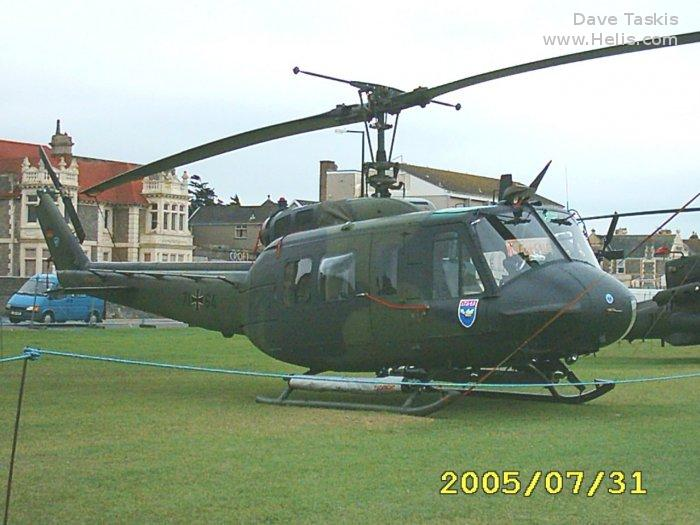 Helicopter Dornier UH-1D Serial 8224 Register 71+64 used by Luftwaffe (German Air Force). Aircraft history and location